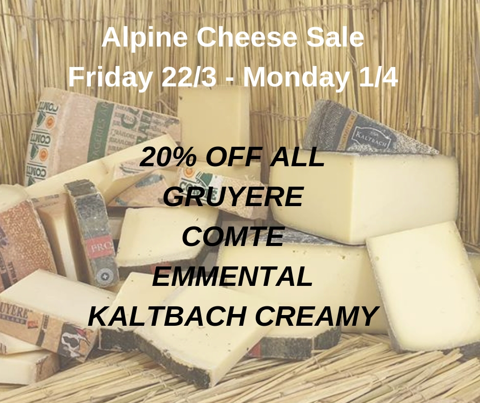 Alpine Cheese Sale - 20% off