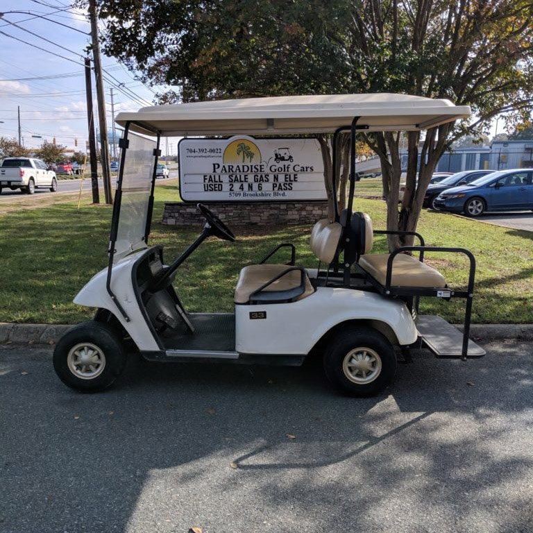 2007 White Ezgo TXT 36v Series Car