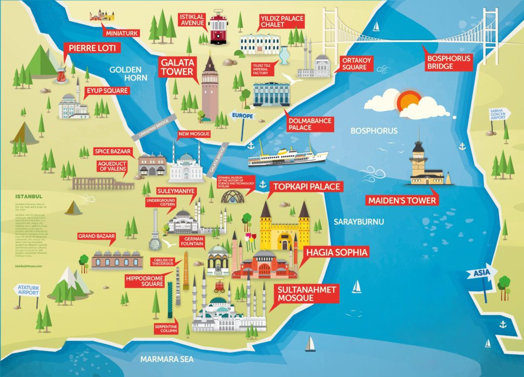 Istanbul Layover Tour Map