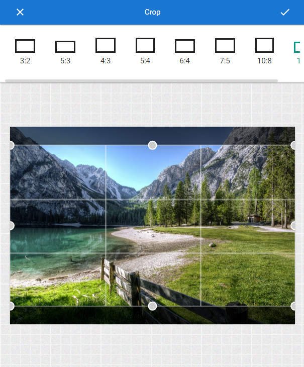 how to crop picture