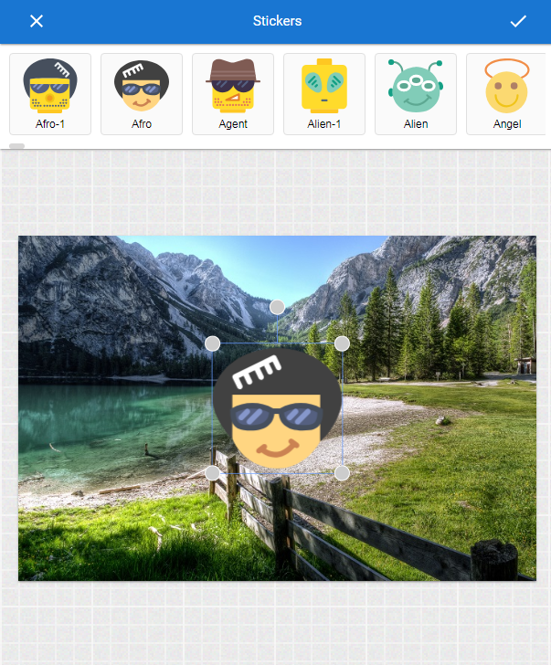 add stickers to photograph