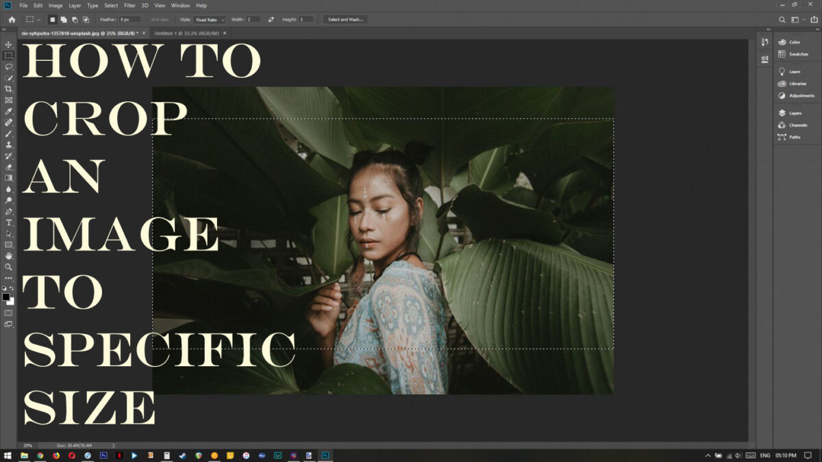 How To Crop An Image To Specific Size