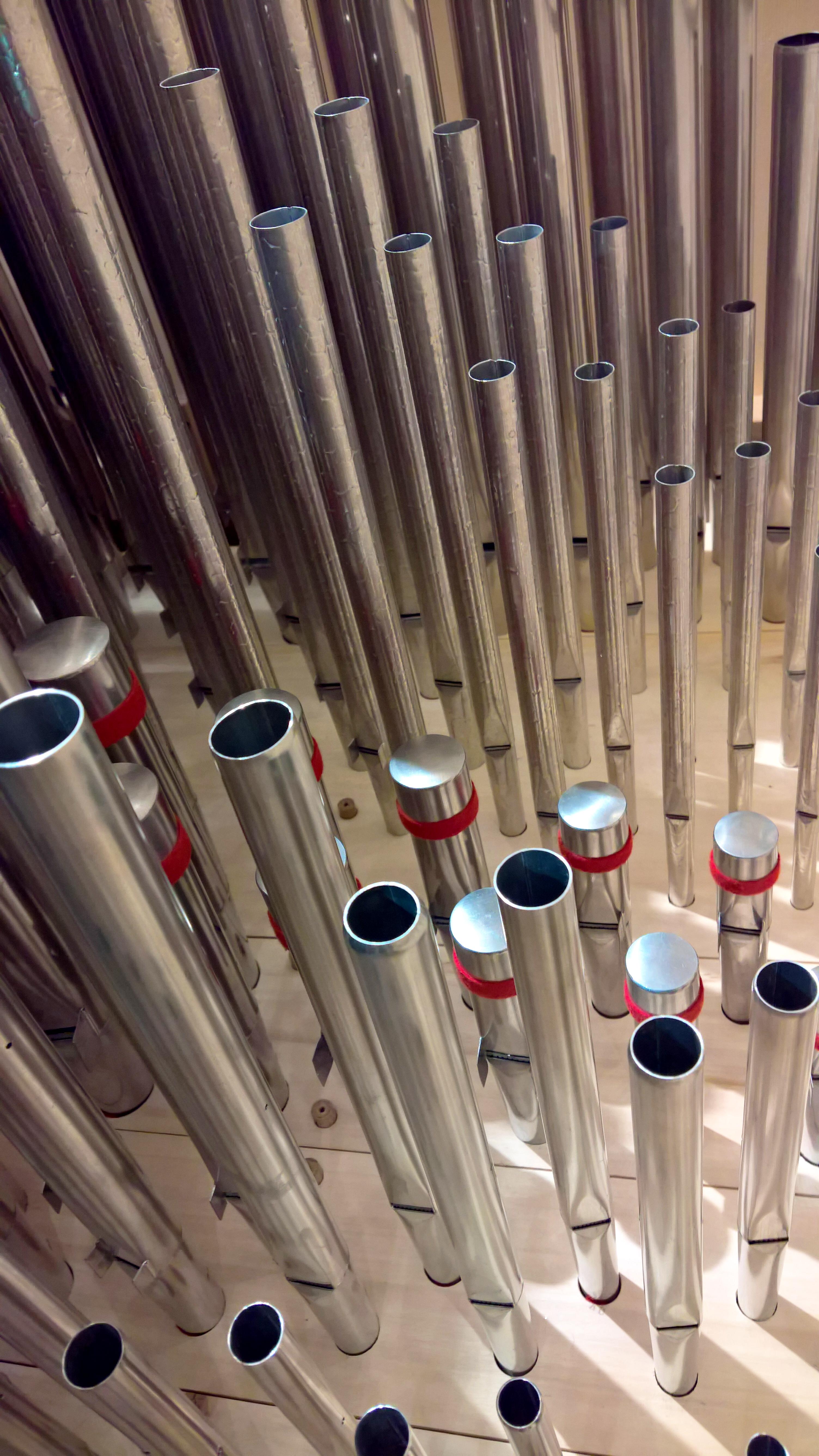 Canneggio dei fondi del recitativo dell'organo di Brione sopra Minusio (2017).