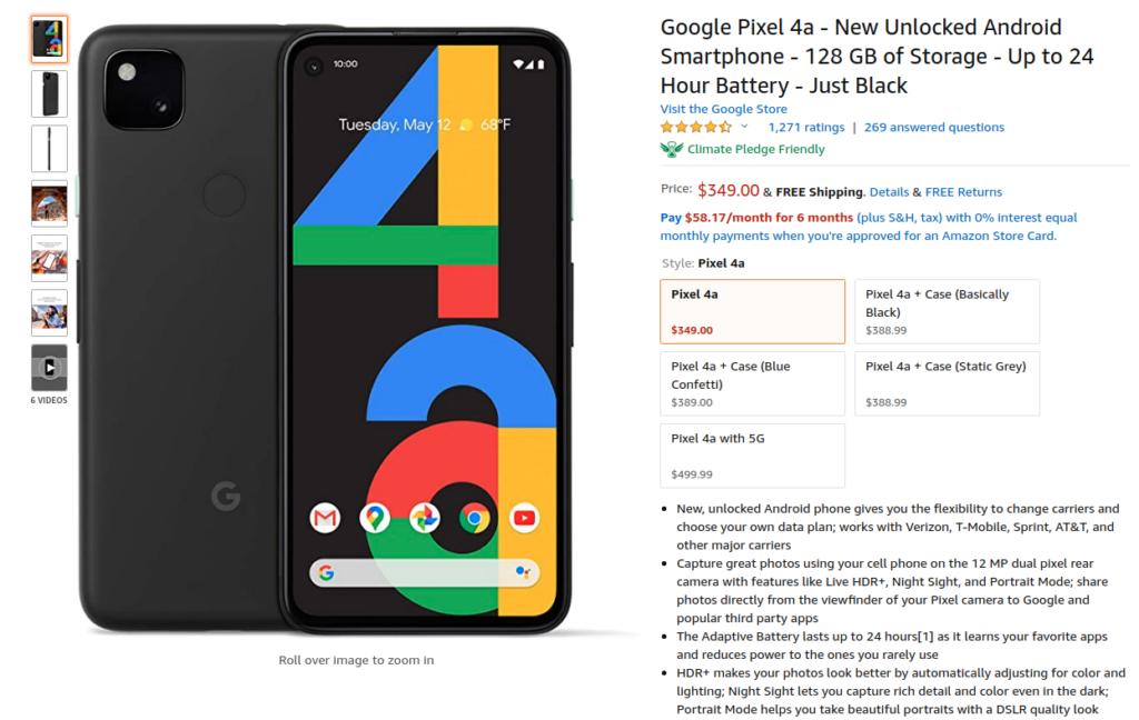 Google Pixel 4A Cons Pros