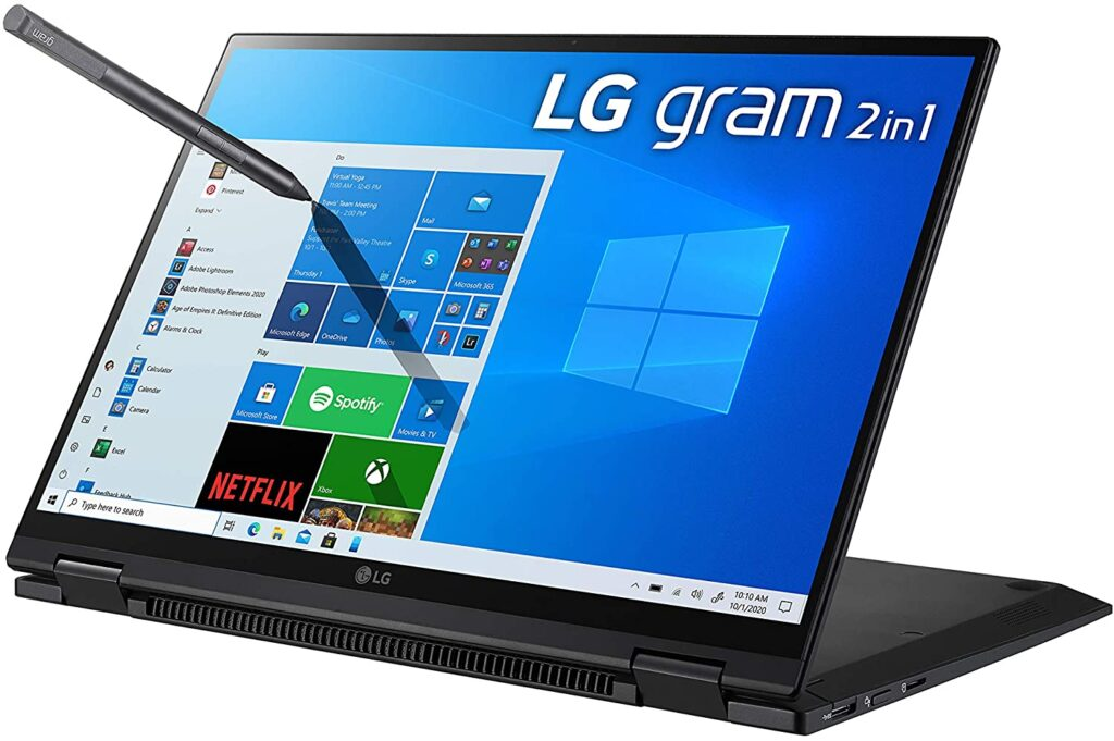 LG Gram 2021 2 in 1 touch laptop 1