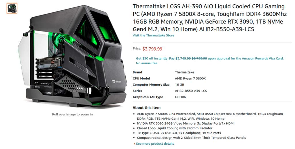 Thermaltake LCGS AH 390 AHB2 B550 A39 LCS Preorder Amazon US