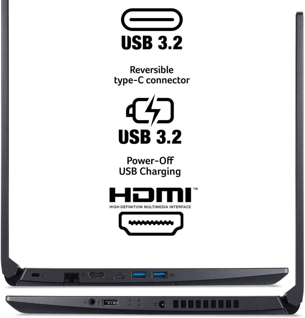 Acer Aspire 7 A715 42G R20C POrts