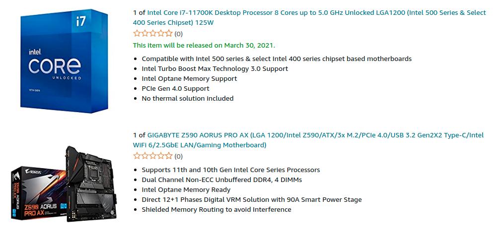 Intel Core i7 11700K Desktop Processor Amazon US