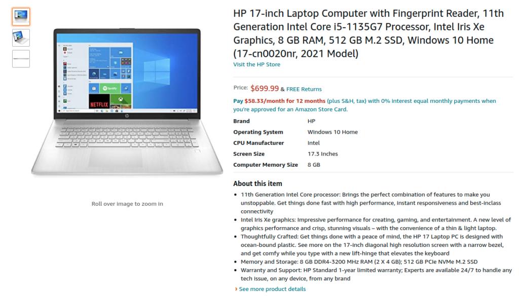 HP 17 cn0020nr Laptop
