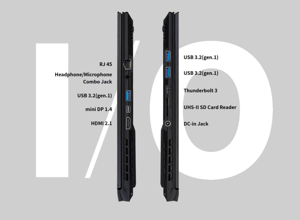 AERO 15 OLED RTX 30 Series ports