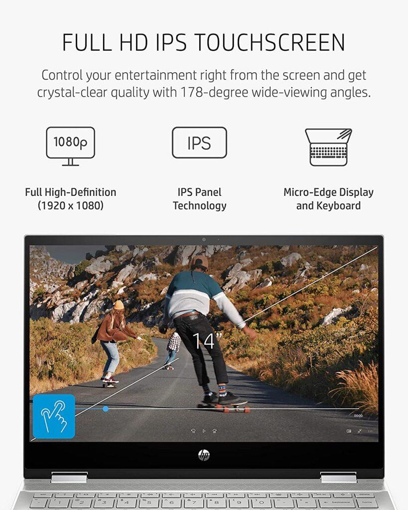 HP 14 dw1010nr 2021 Pavilion x360 display