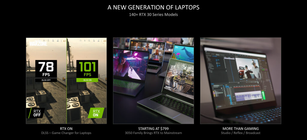Nvidia RTX 3050 Ti GPU Laptops Specs