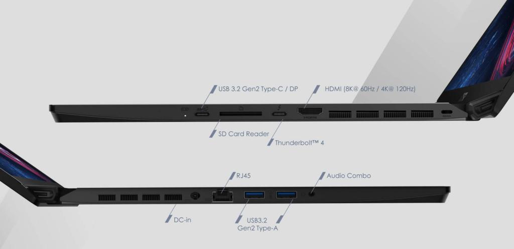 MSI GS76 Stealth 11UH 281 USB Ports