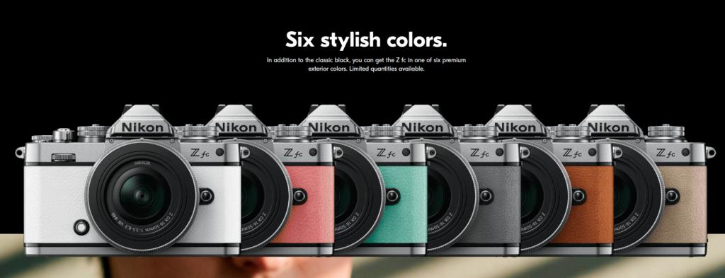 Nikon Z FC Camera Colors