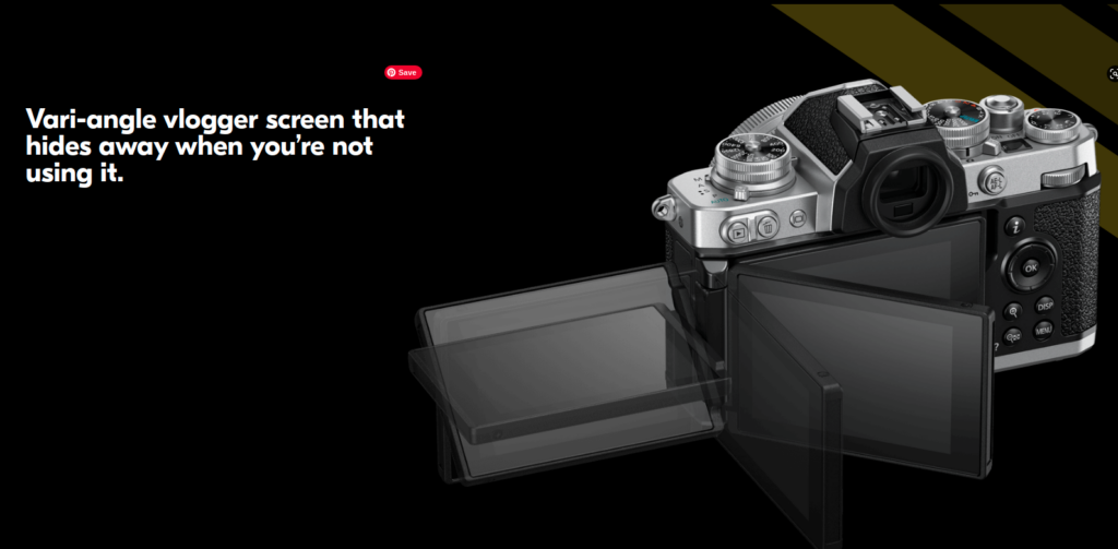 Nikon Z FC Camera LCD screen