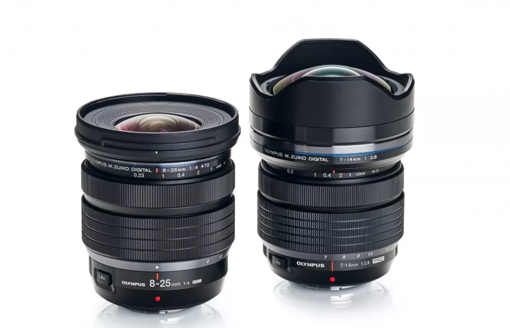 Olympus M ZUIKO 8 25MM lens size comparison
