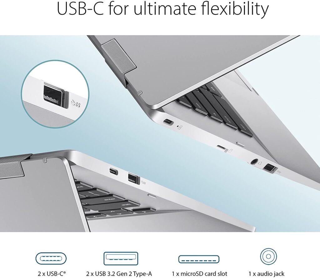 ASUS Chromebook CX1 CX1400CNA AS44FV ports