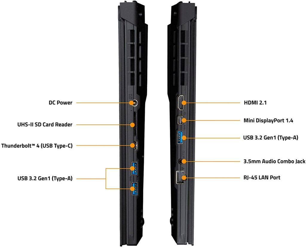 GIGABYTE AORUS 15P XD 73US224SH ports