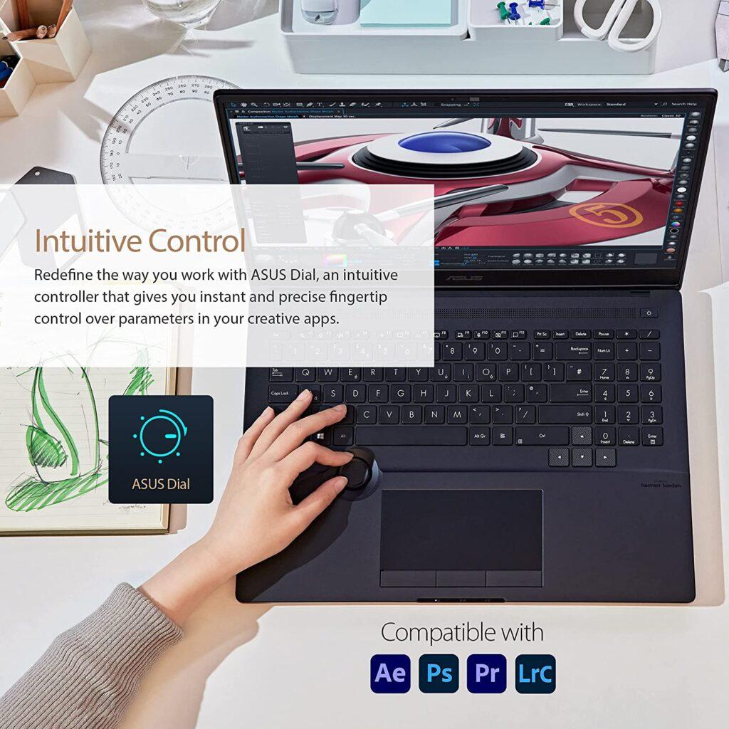 ASUS ProArt StudioBook 16 H5600QM-XB94 Asus Dial
