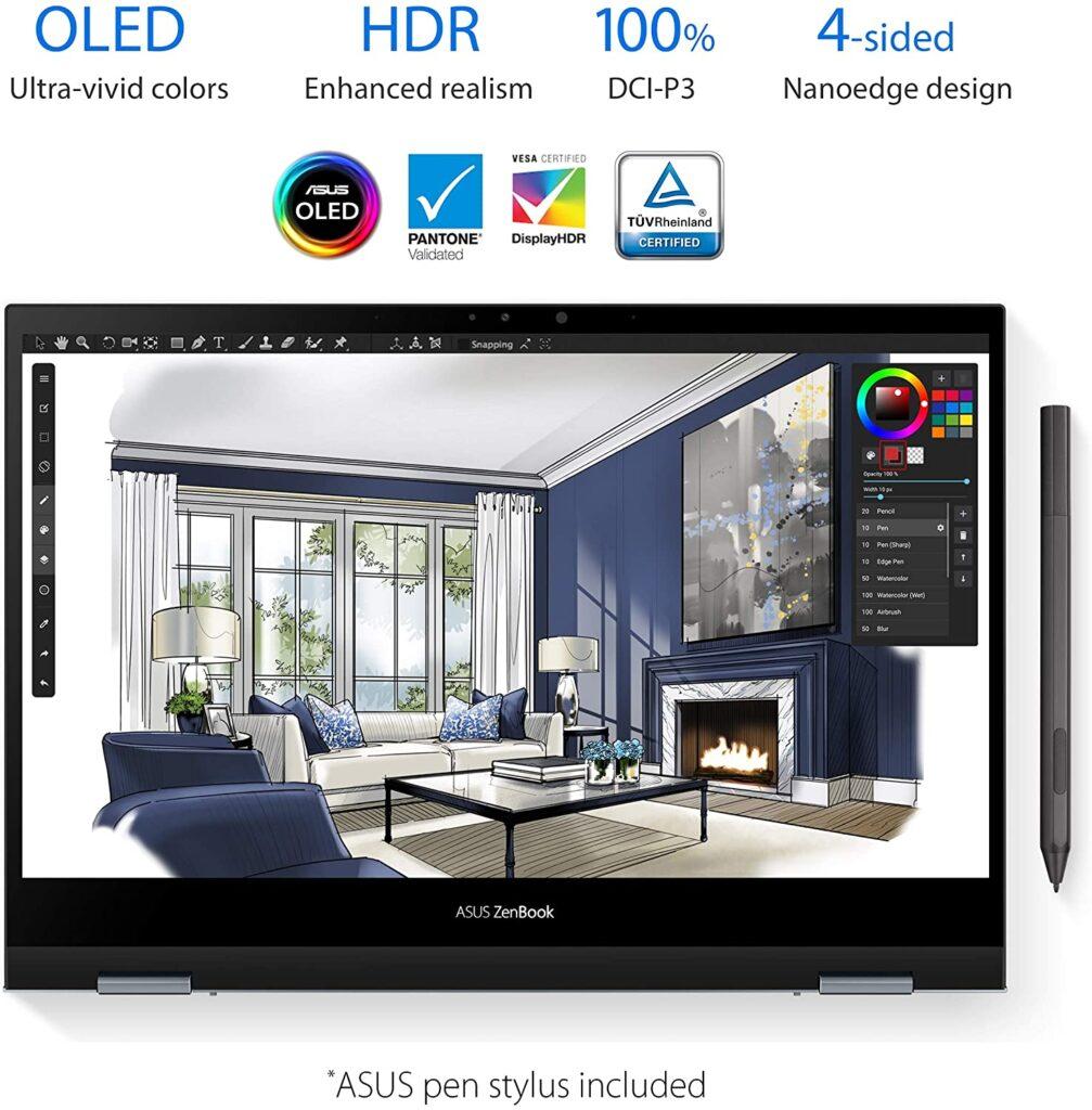 ASUS ZenBook Flip 13 UX363EA AS74T OLED display