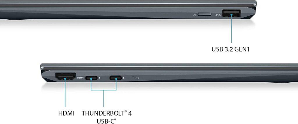 ASUS ZenBook Flip 13 UX363EA AS74T OLED ports