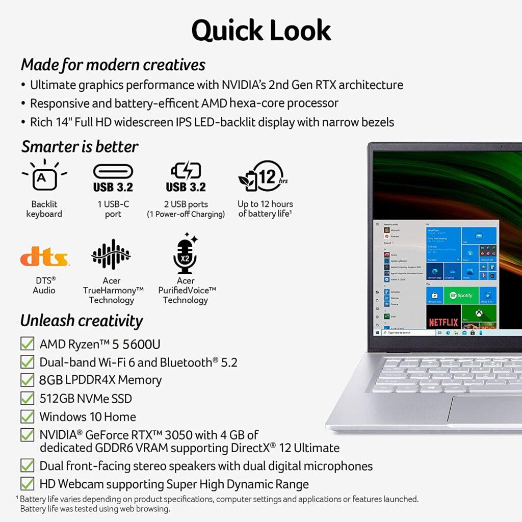 Acer Swift X SFX14 41G R0SG Full Specs