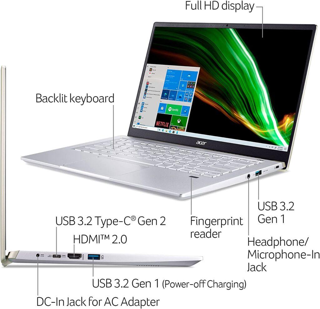 Acer Swift X SFX14 41G R0SG ports