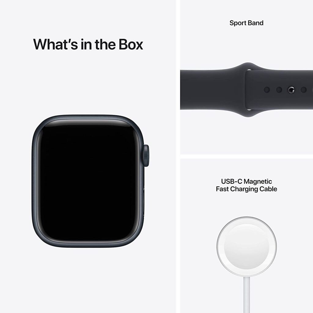 Apple Watch Series 7 in the box