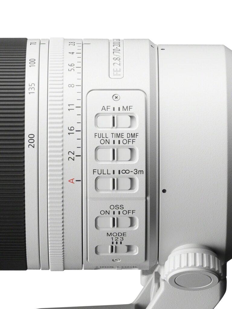 Sony FE 70 200mm F2.8 GM OSS II Switches