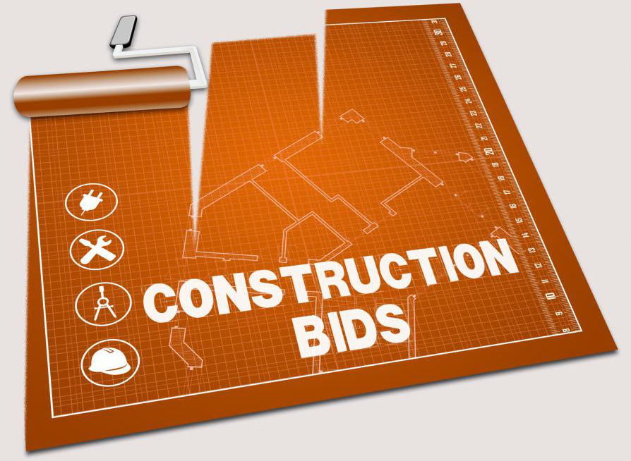 A construction bidding plan