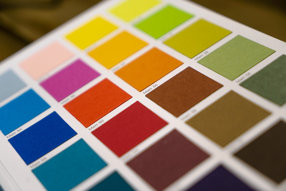 color swatches for various paint options
