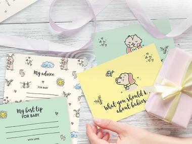 Baby Shower Cards & Keepsake Box
