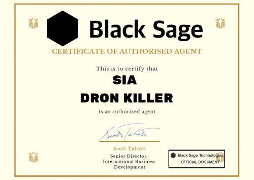 Black Sage certificate