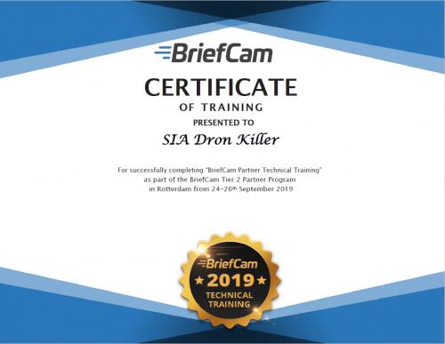 BriefCam certificate