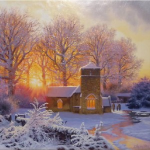 St Michael & St Martins Church - Eastleach - Winters Scene