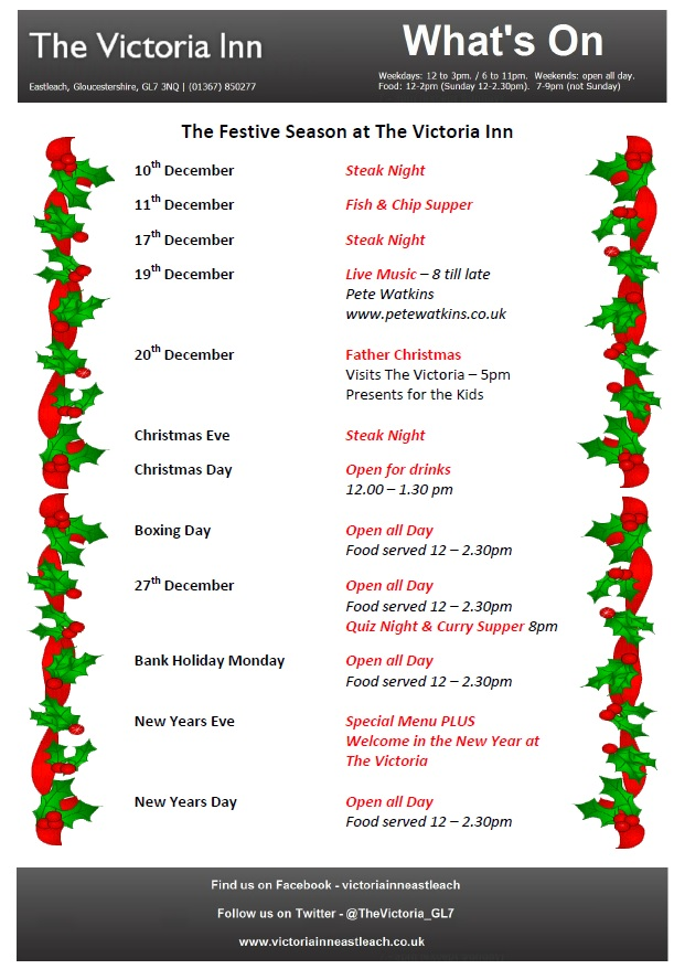 whats on in december 2015