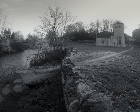 Photograph of Bouthrop Church by Jules Baskin of Eastleach