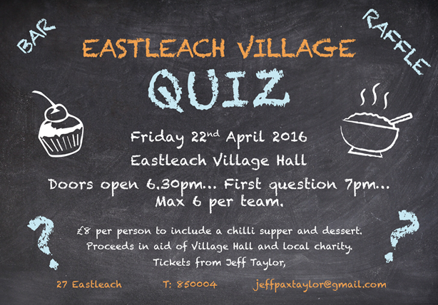 Eastleach village hall quiz