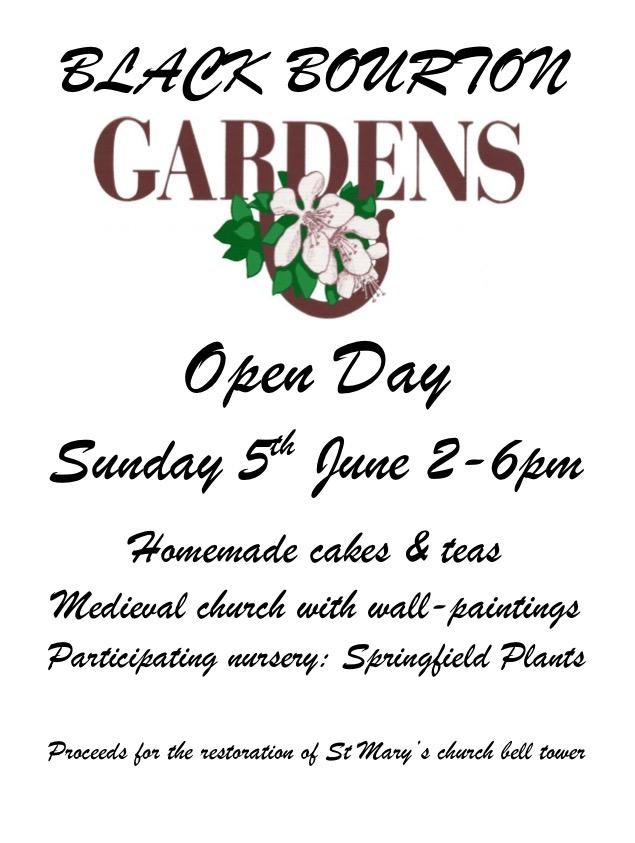 Black Bourton Gardens open Sunday 5 June