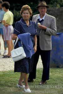 AN UNKOWN COUPLE SPEND THE AFTERNOON AT THE EASTLEACH VILLAGE FETE.