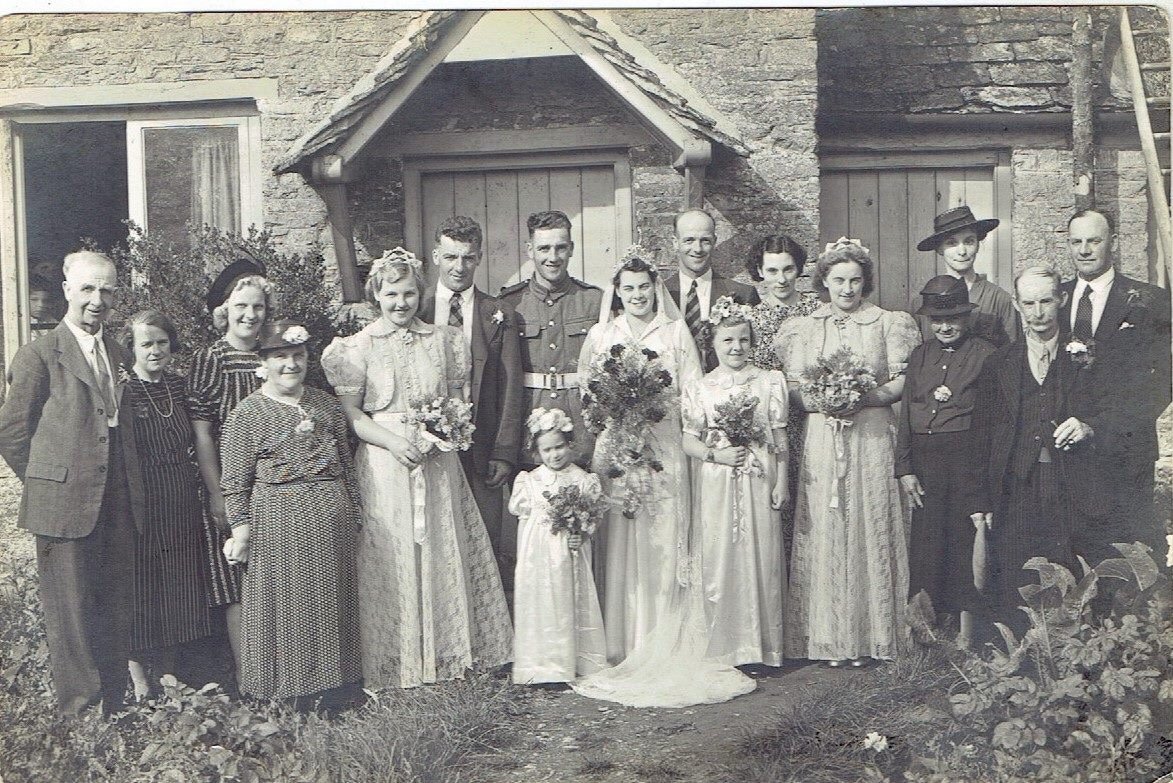 Ella May Fowler's and Stanley Kibble's Wedding day