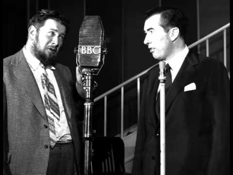 Peter Ustinov  & Peter Jones in the BBC radio comedy In All Directions.