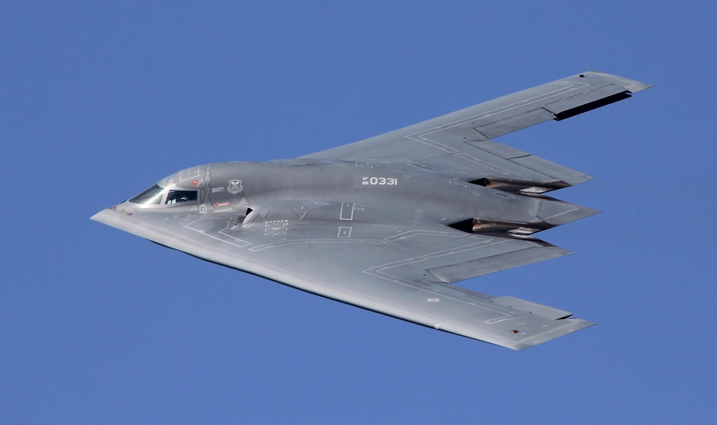 Three Northrop-Grumman B2 Spirits are currently at the Fairford air base in Gloucestershire.