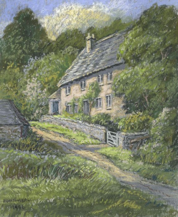 Keith Burtonshaw - 1996 Pastel, Cottage at Eastleach