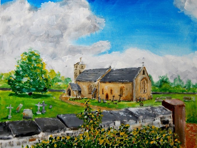 Mike Hayward undertook A year long project to paint all The Churches Conservation Trust churches in Gloucestershire complete - St Michael and St Martin Eastleach - worth a visit.
