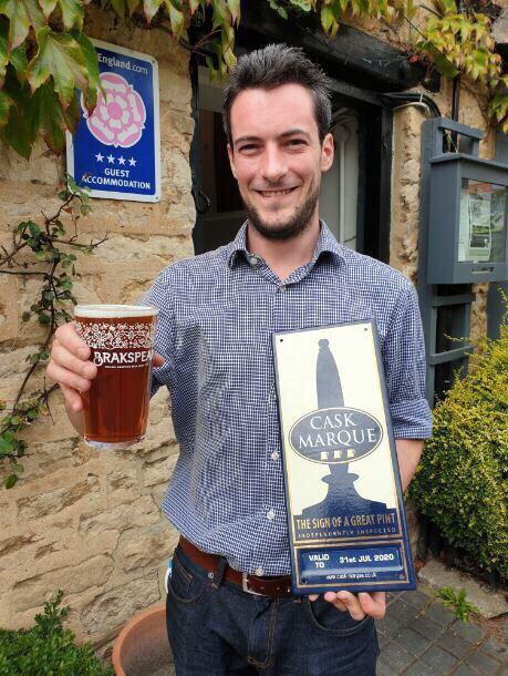 Manager Gerald Gallagher is pleased that the pub is now also being recognised for its ales