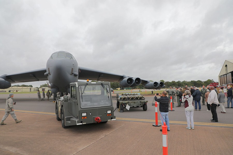 RAF Fairford celebrated its 75th anniversary last Friday with a Heritage Day held in one of the large hangars on the base.