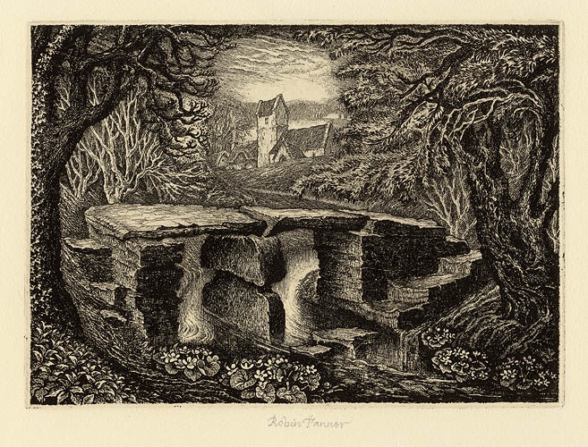 Robin Tanner (1904–1988) was an English artist, etcher and printmaker. He followed in the visionary tradition of Samuel Palmer and English neo-romanticism