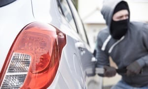 FOUR men were reportedly caught by a resident tying to break into several cars in Fairford.