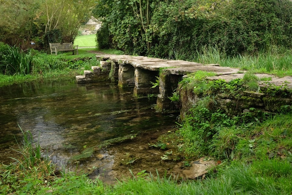 "The ancient clapper bridge over the River Leach in Eastleach, is known locally as the ""Keble's Bridge"" named after John Keble who was curate to the church of St. Michael & St. Martin in the village."